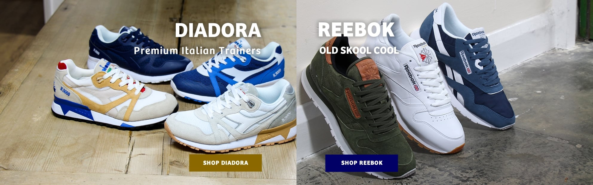 Diadora and Reebok