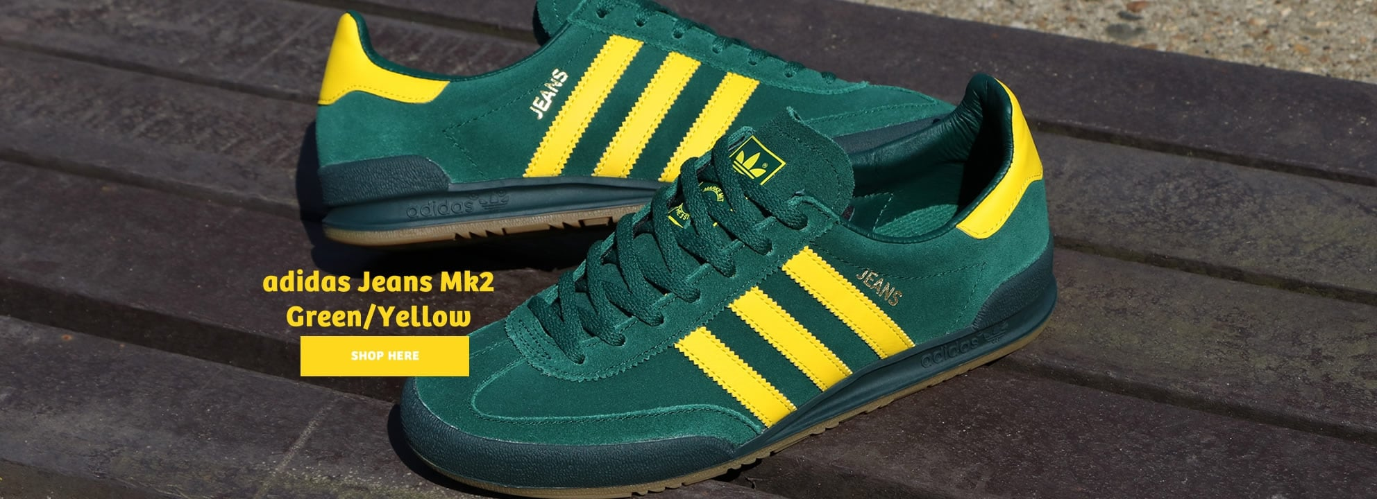 Adidas Jeans Mk2 Green and Yellow