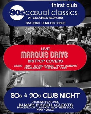 80sCC Live Band & 80s 90s Club Night Sat 22nd Oct