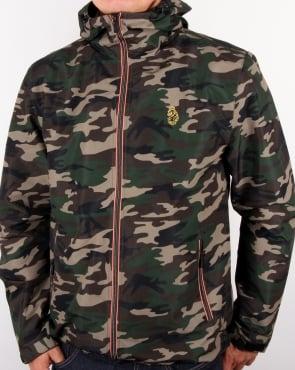 Luke Raleigh Hooded Jacket Olive Camo
