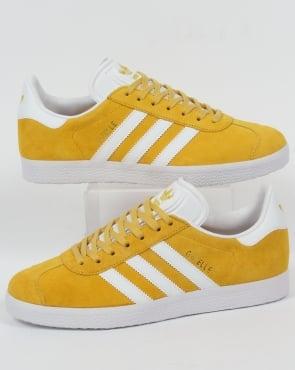 Adidas Gazelle Trainers Yellow/White