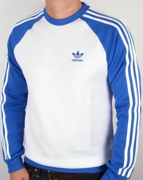 Adidas Originals Old Skool Sweat Top White/Blue