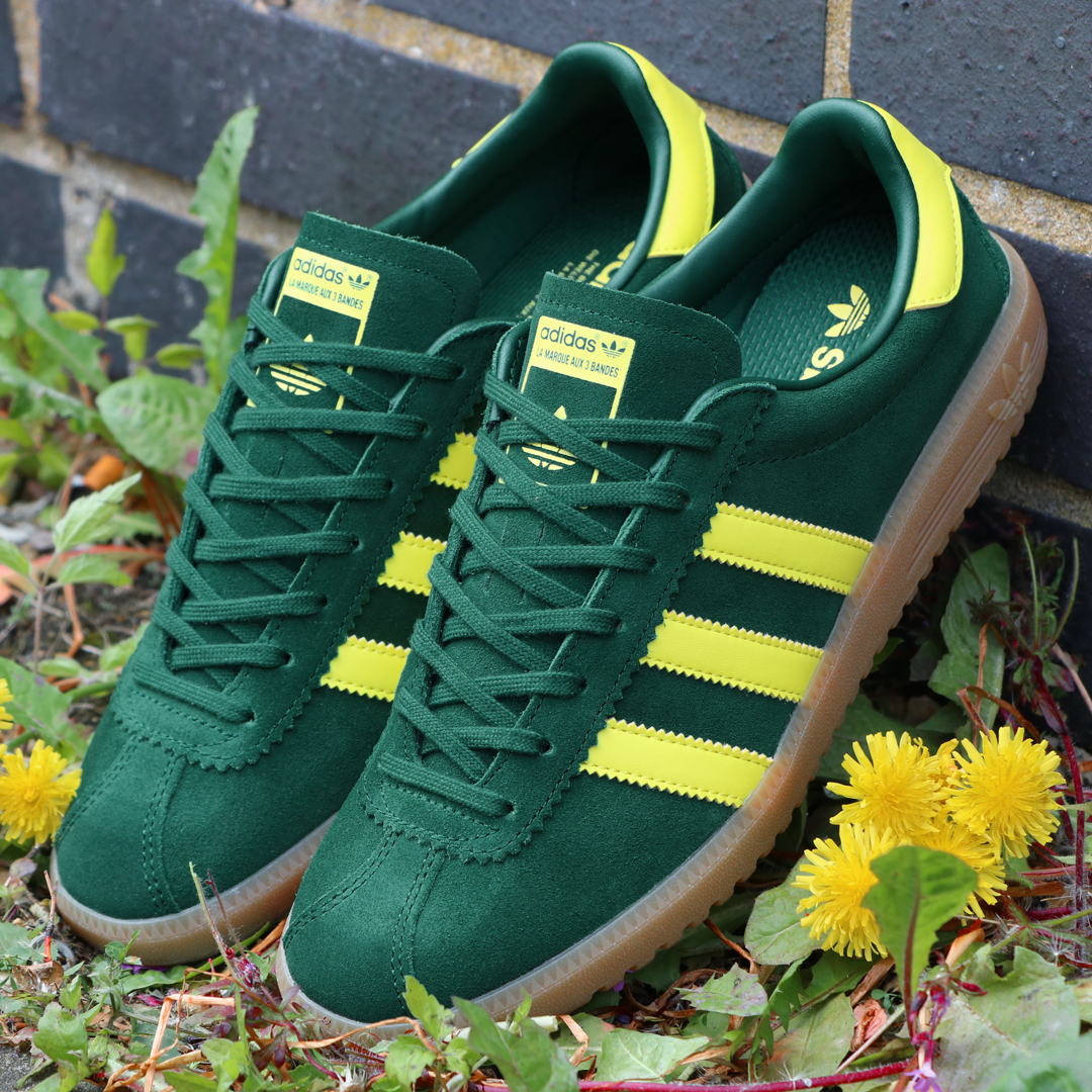 1eac632301d Above  The adidas Bermuda trainer in green yellow now available at 80s  Casual Classics.