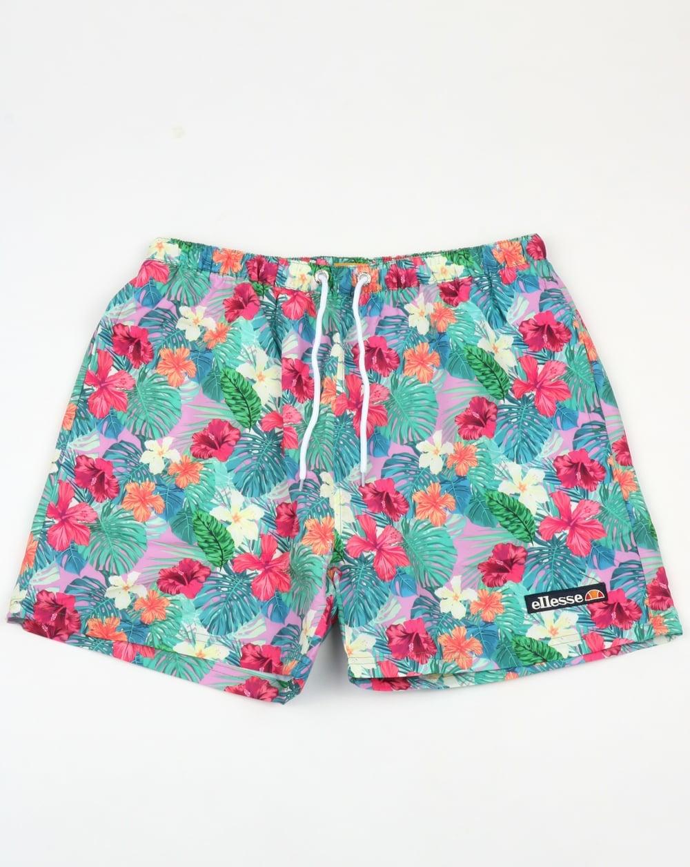 ellesse floral beach swim shorts