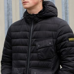 Barbour Ouston Hooded Jacket in Black