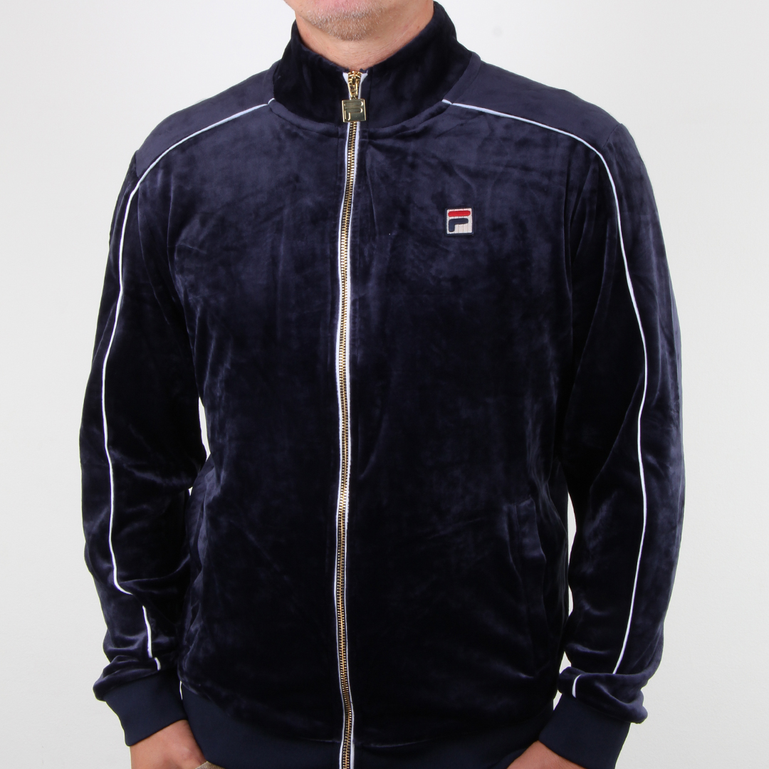 Fila Velour Track Top Navy