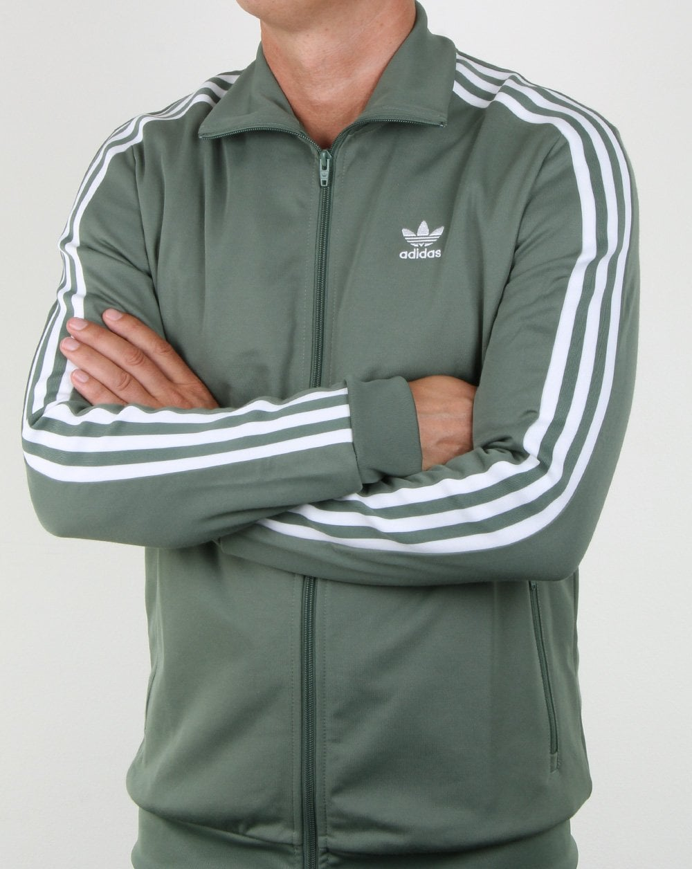 adidas Beckenbauer track top trace green