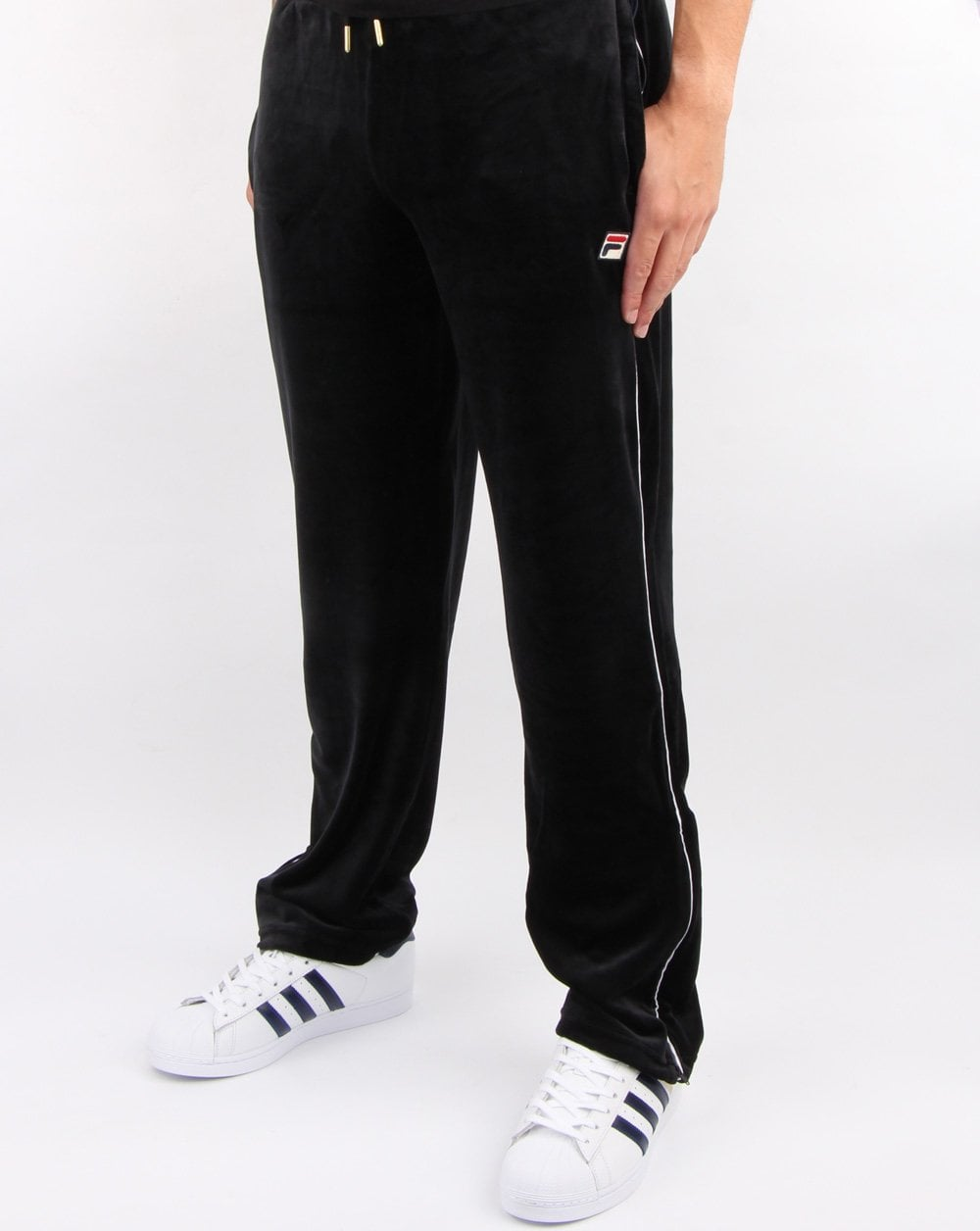 Fila Cyrus Velour Track Pants in black