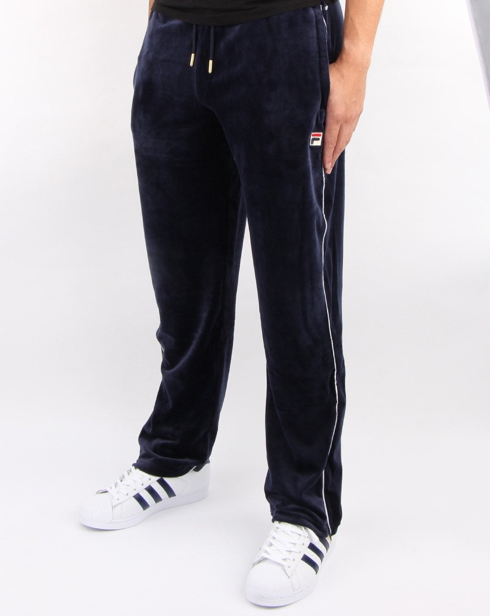 Fila Cyrus Velour Track Pants in navy