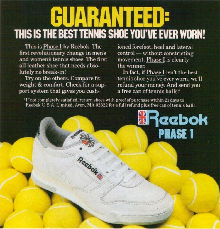 Reebok Phase One Advert 80s