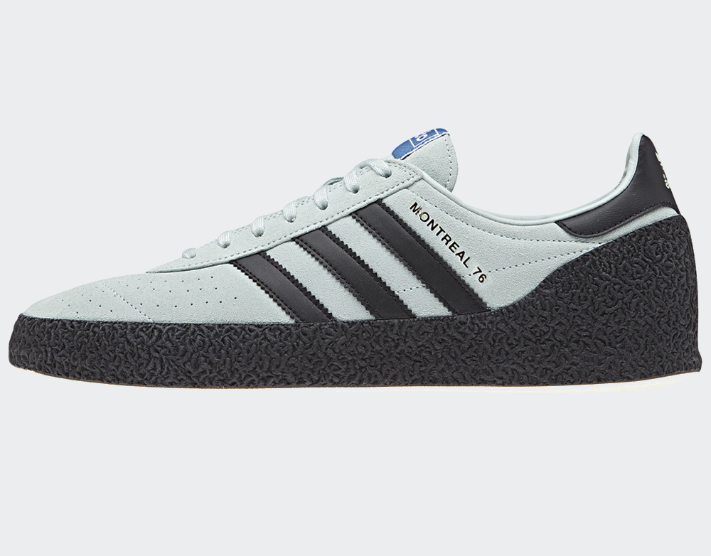 purchase cheap 36dc5 dfa37 Adidas Montreal 76 Trainers Vapour Green Black