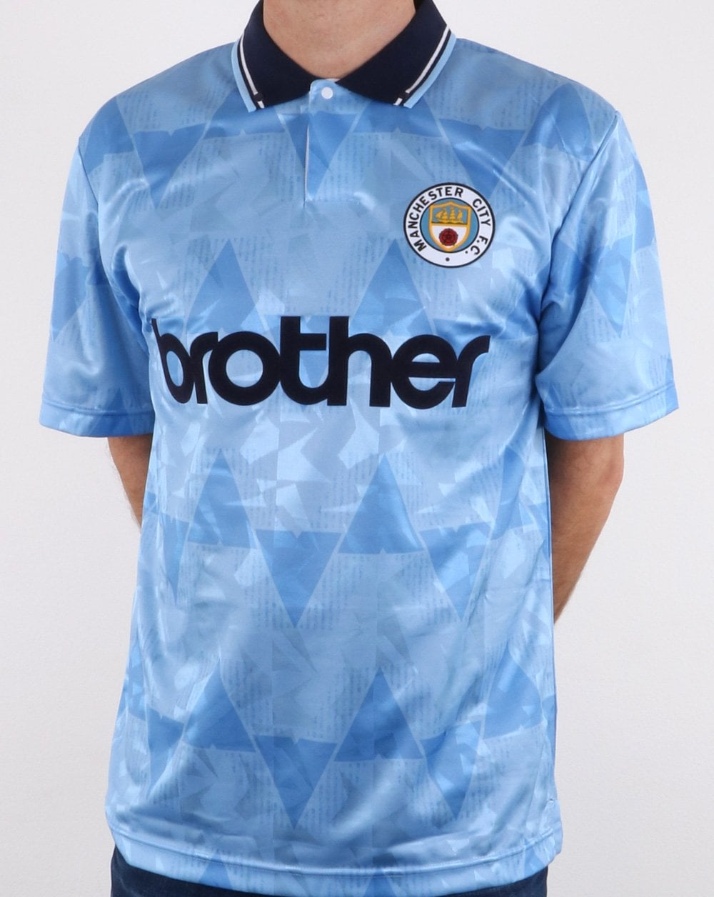 Retro Football Shirt Man City 1989