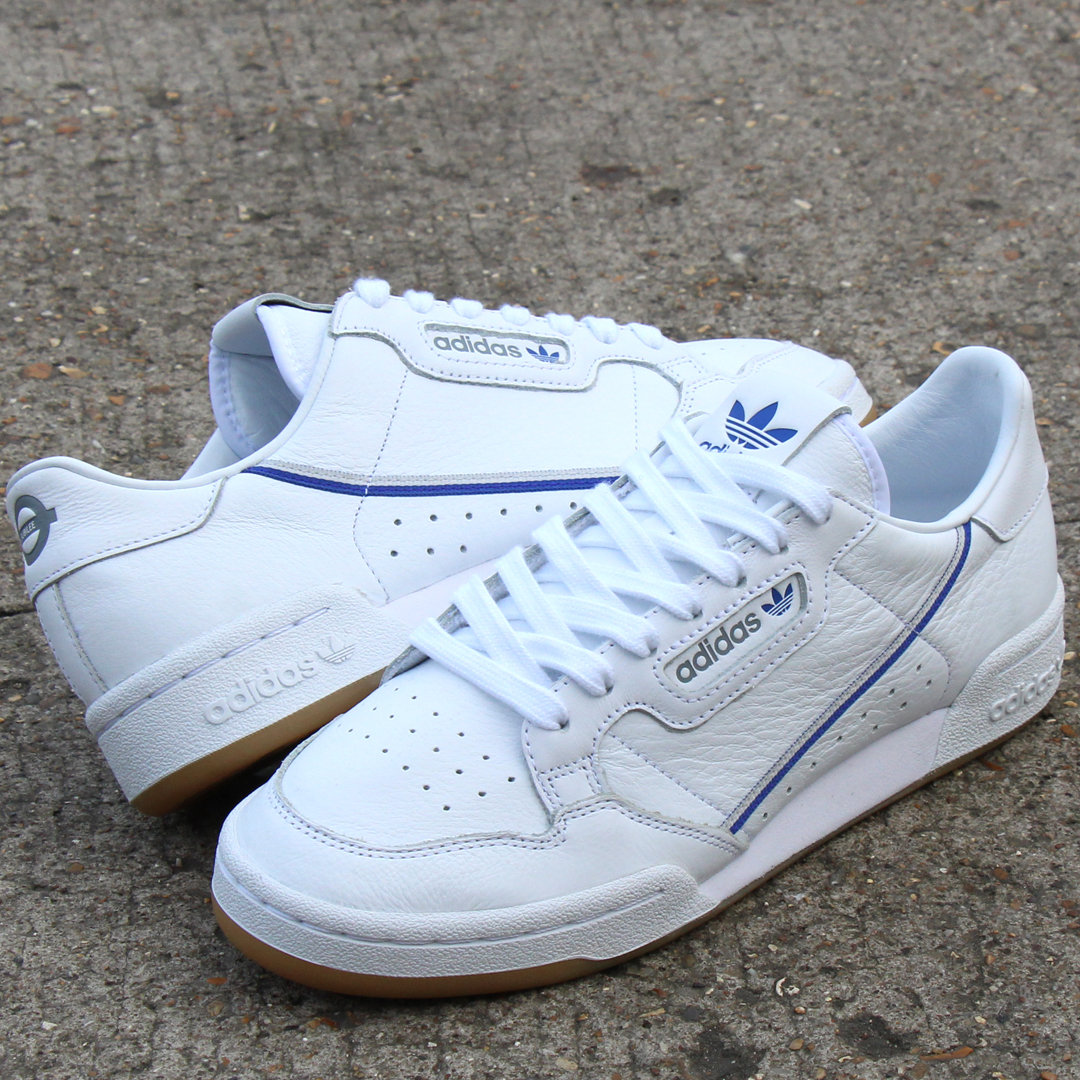 buy popular 436e0 12034 adidas Continental 80 x TFL white