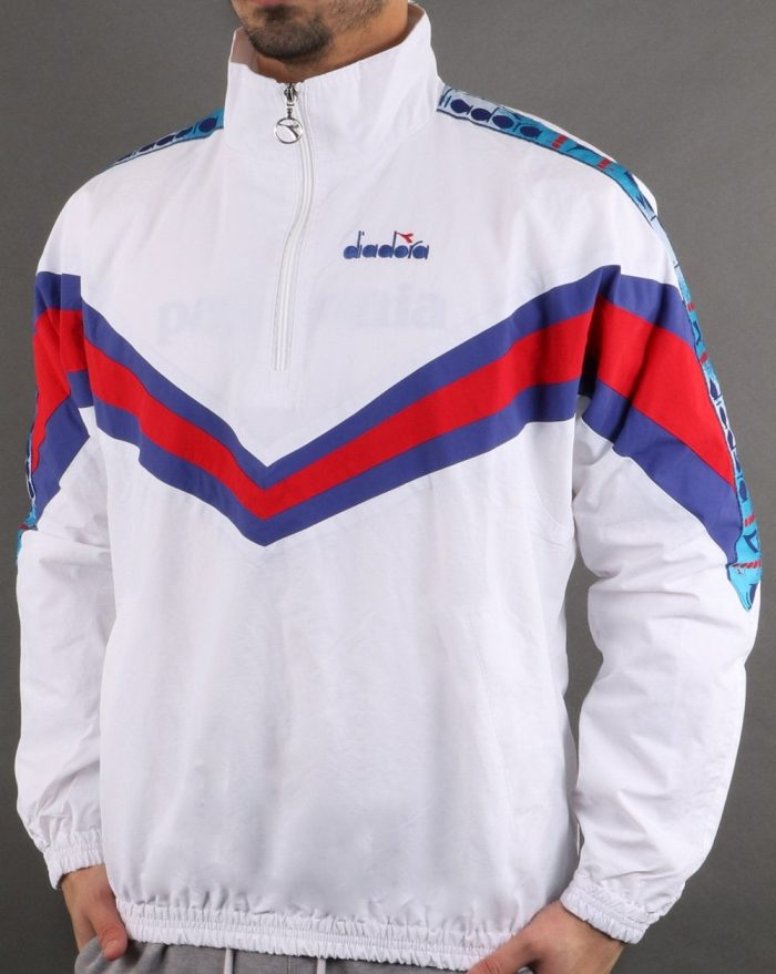 colour blocking outerwear fila vintage ambrose jacket