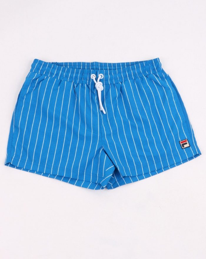 fila Borg pinstripe swim shorts