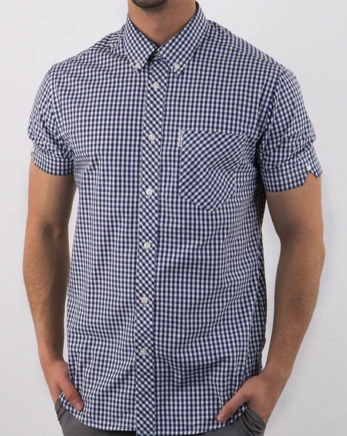 ben sherman button down shirt gingham check northern soul