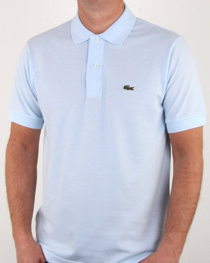 lacoste polo shirt sky blue