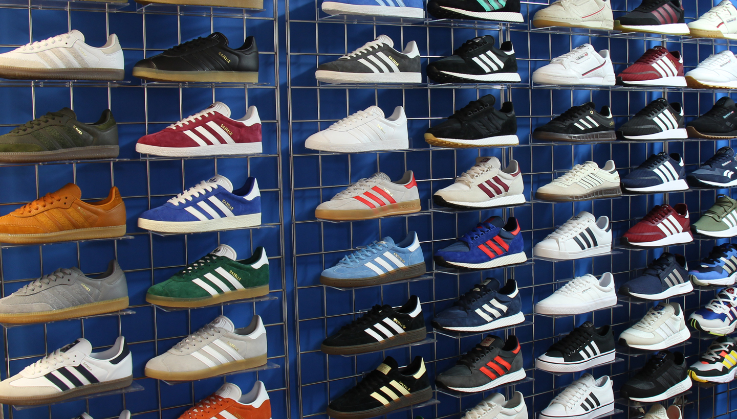 80s adidas trainer wall