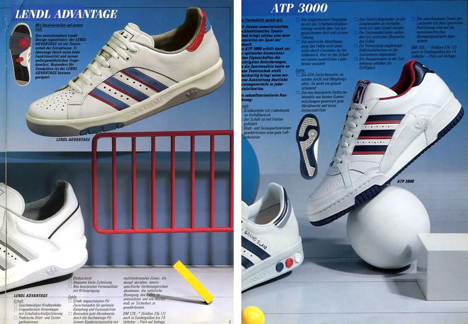 adidas AR Trainer advert LENDL ATP 1987