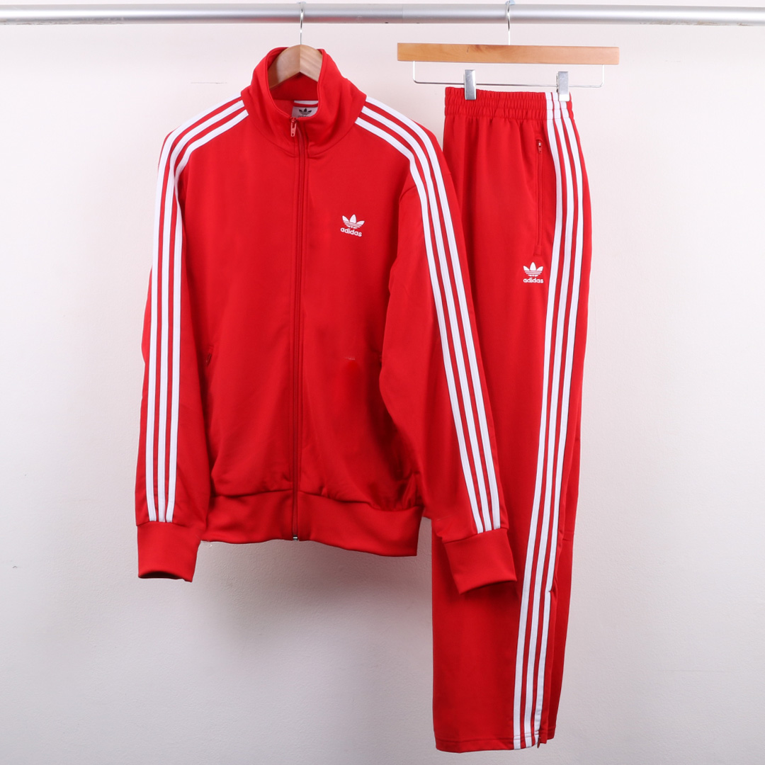 adidas Firebird Track Top & Bottoms Scarlet