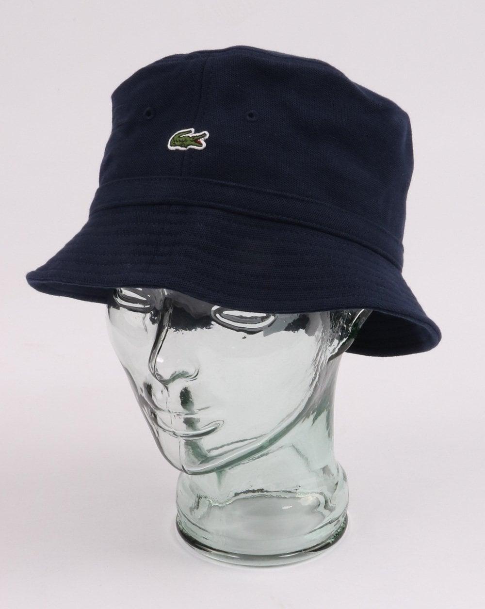 lacoste bucket hat navy