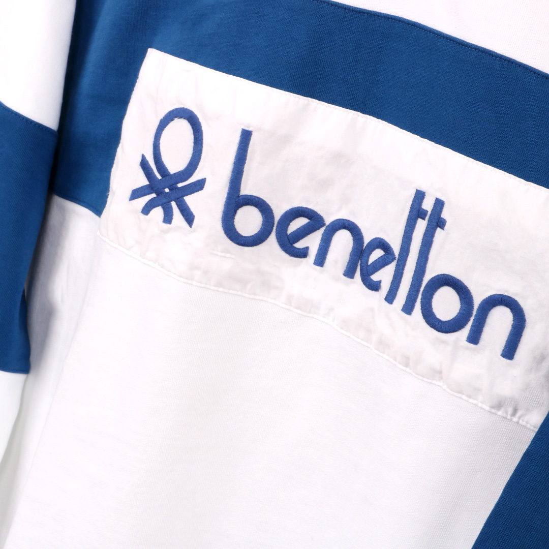 Benetton Rugby Shirt White Blue