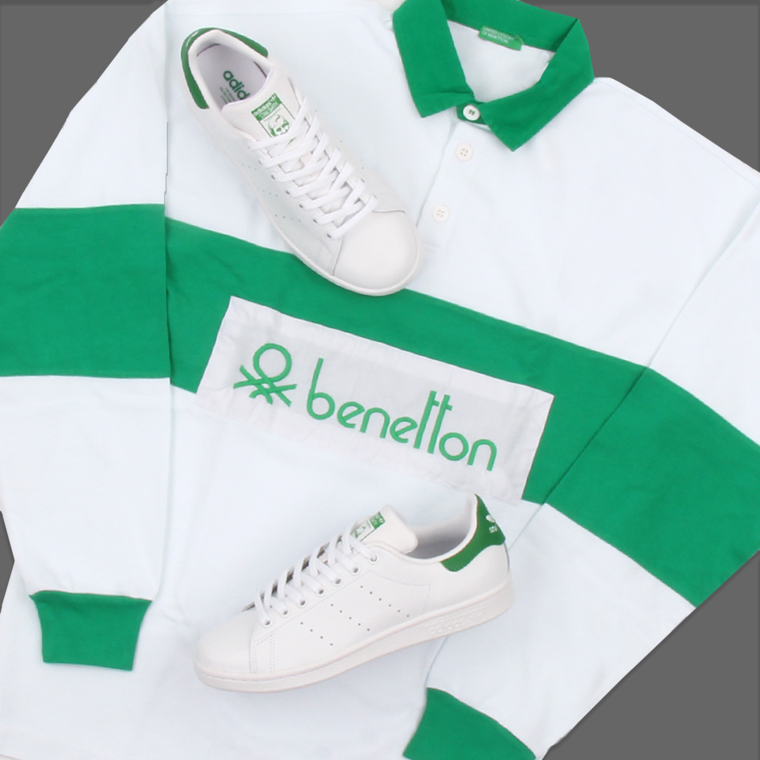 Benetton Rugby Shirts Green