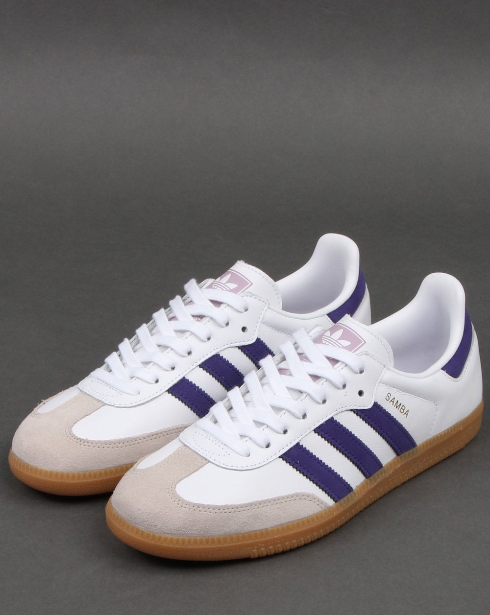 adidas Samba OG white purple