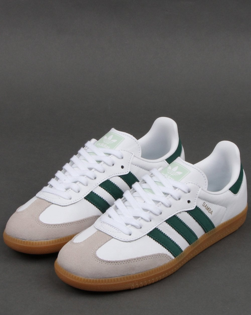 adidas Samba OG white green