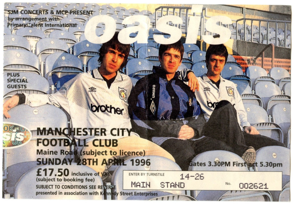 Oasis Ticket Main Road 1996