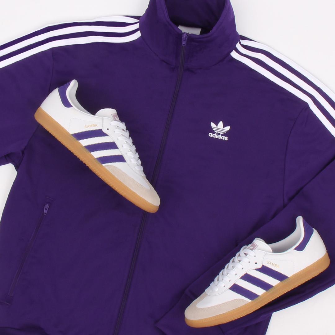 adidas Firebird collegiate purple samba