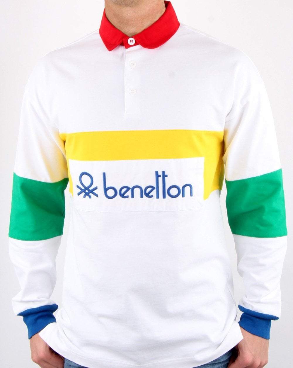 Benetton Rugby Shirt Multi colour