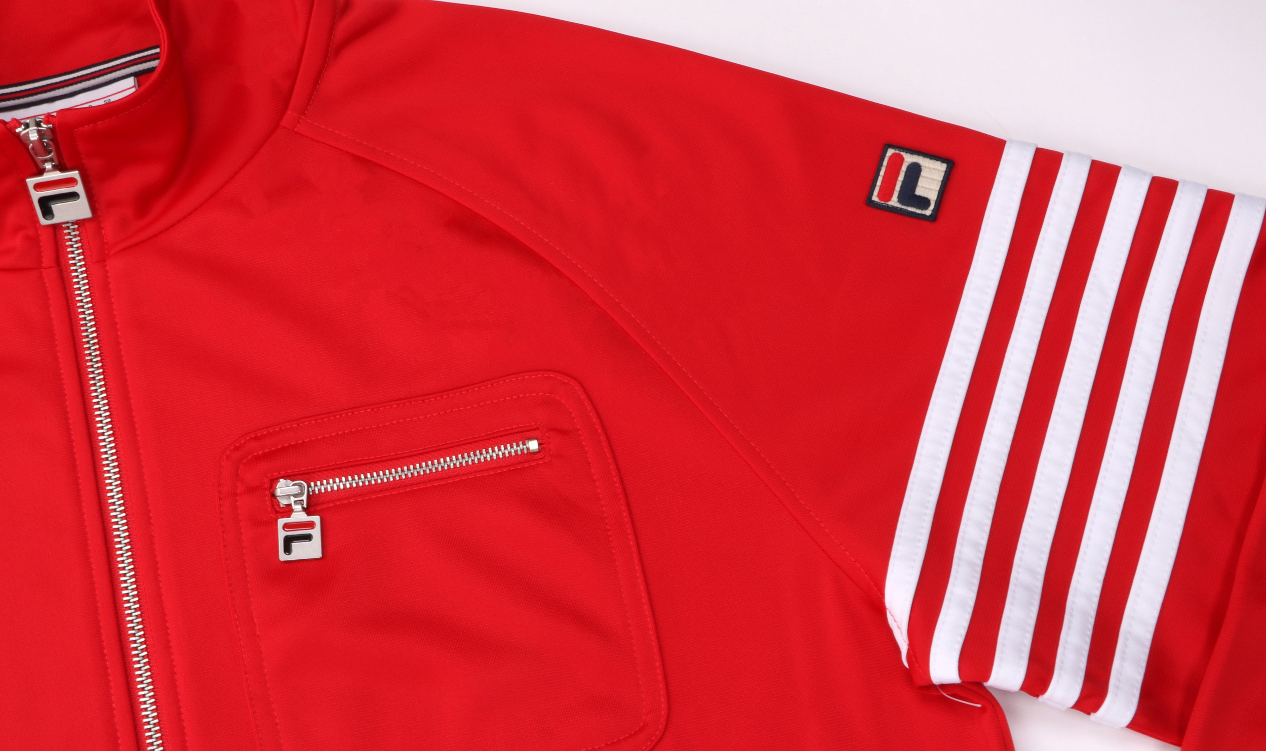 Fila Vintage 5 Stripe Track Top Red