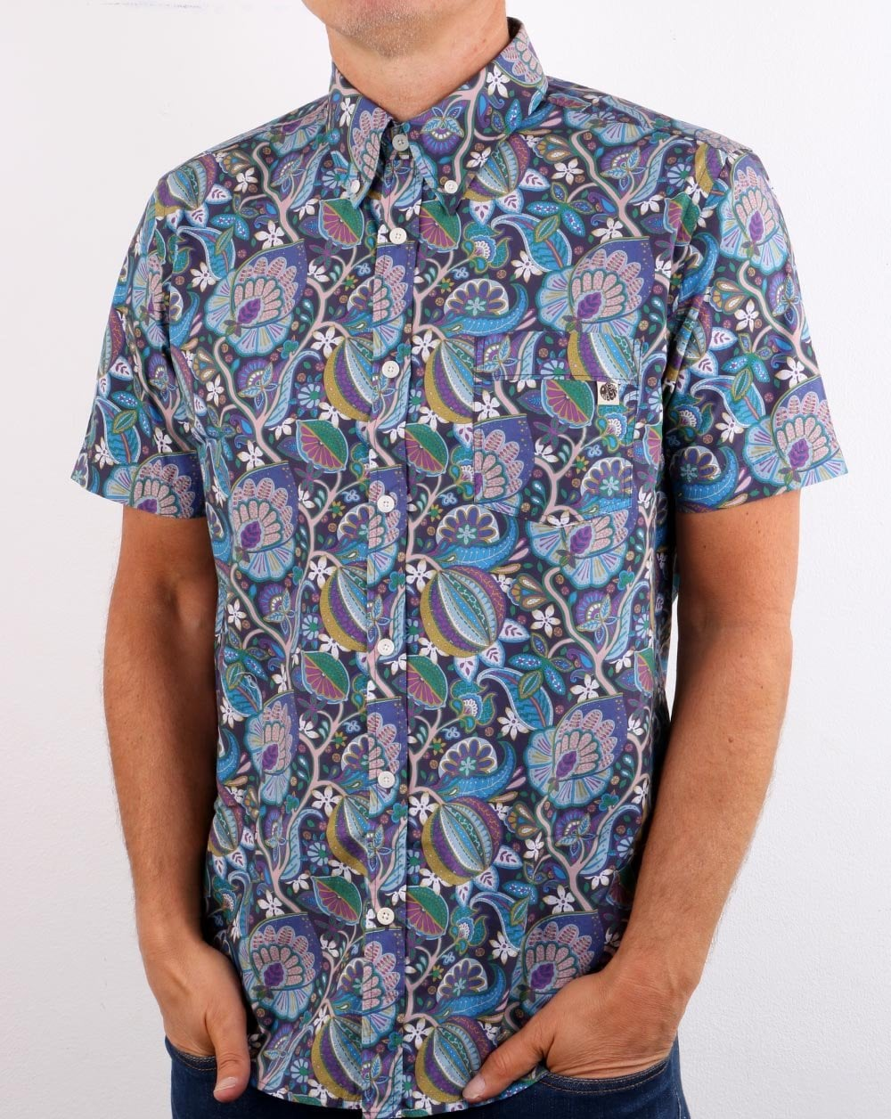 Pretty Green Paisley Floral Shirt