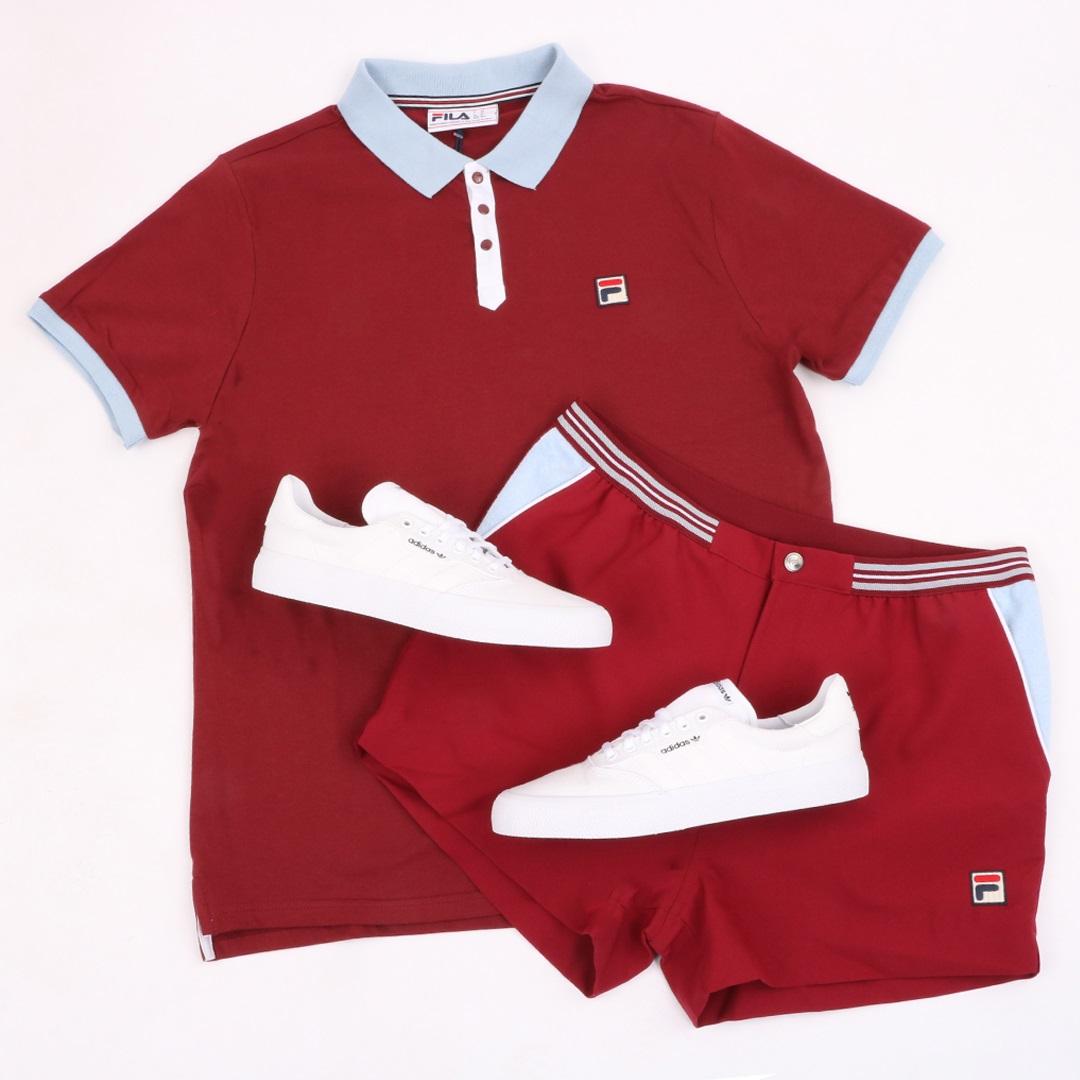 Fila Panatta claret polo shirt