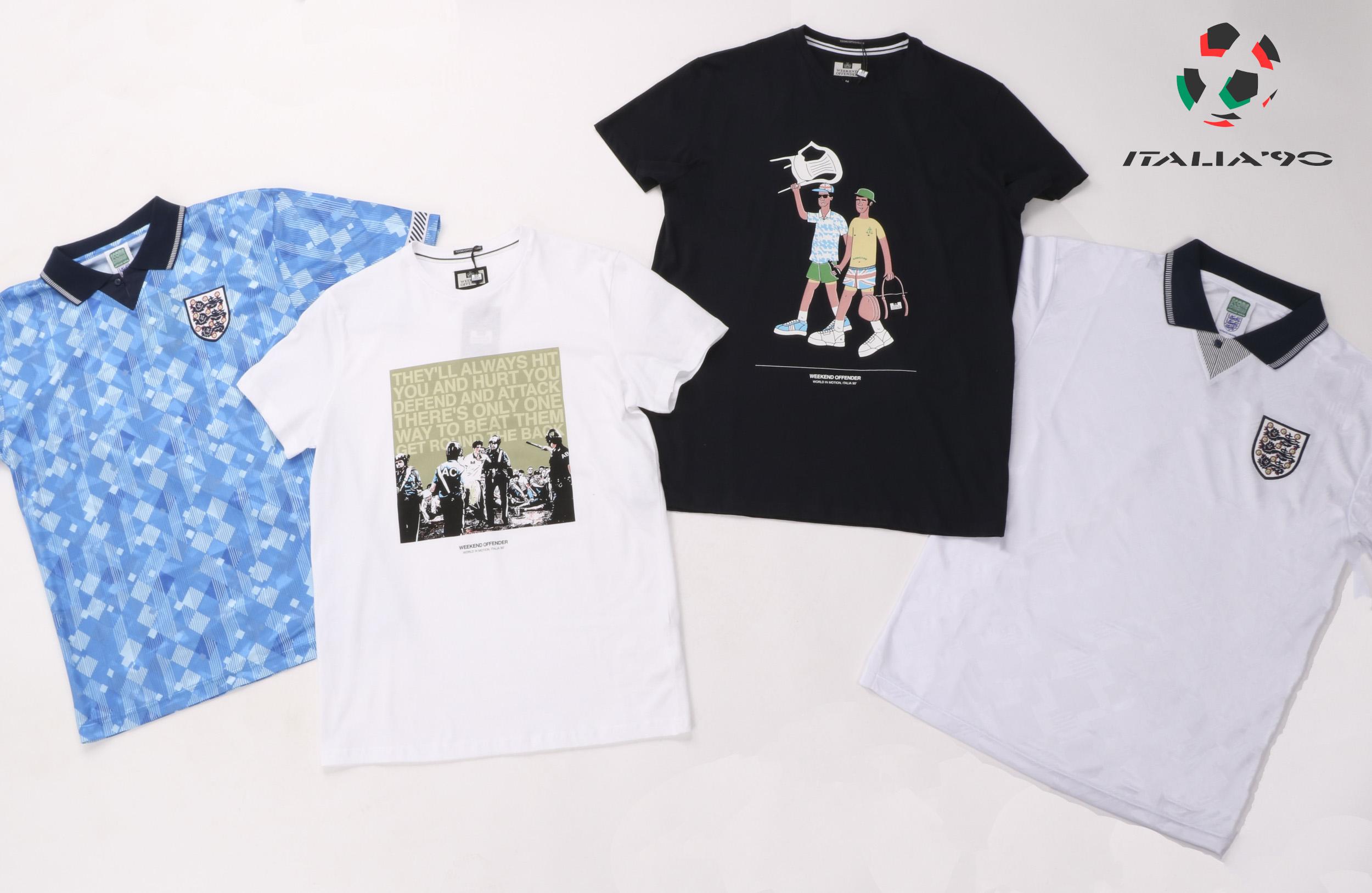 Italia 90 shirts