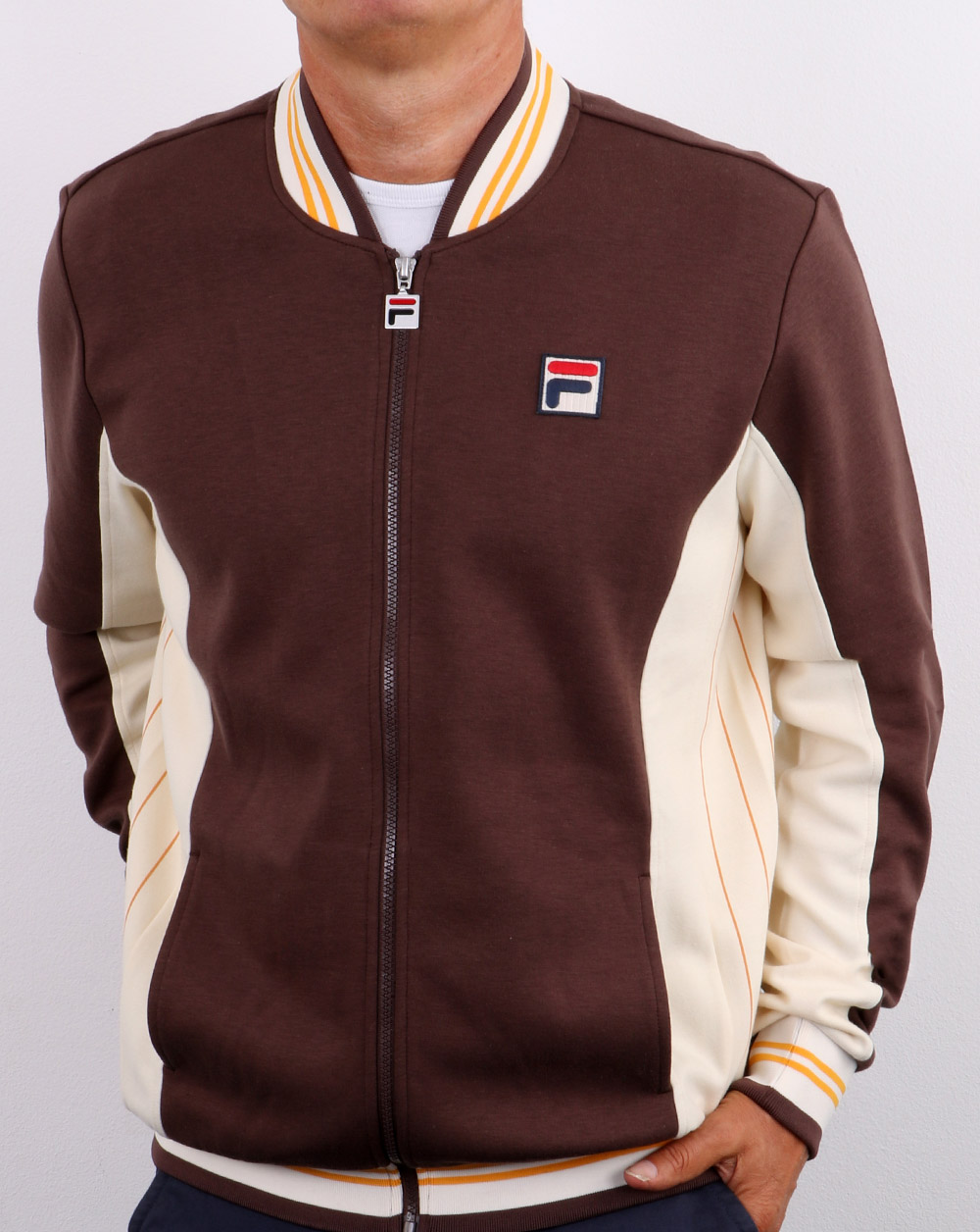 Fila Vintage Settanta Track Top Pro F Brown Cream