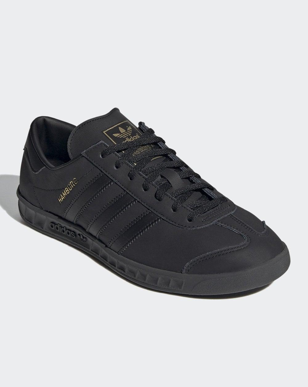adidas Hamburg leather monochrome