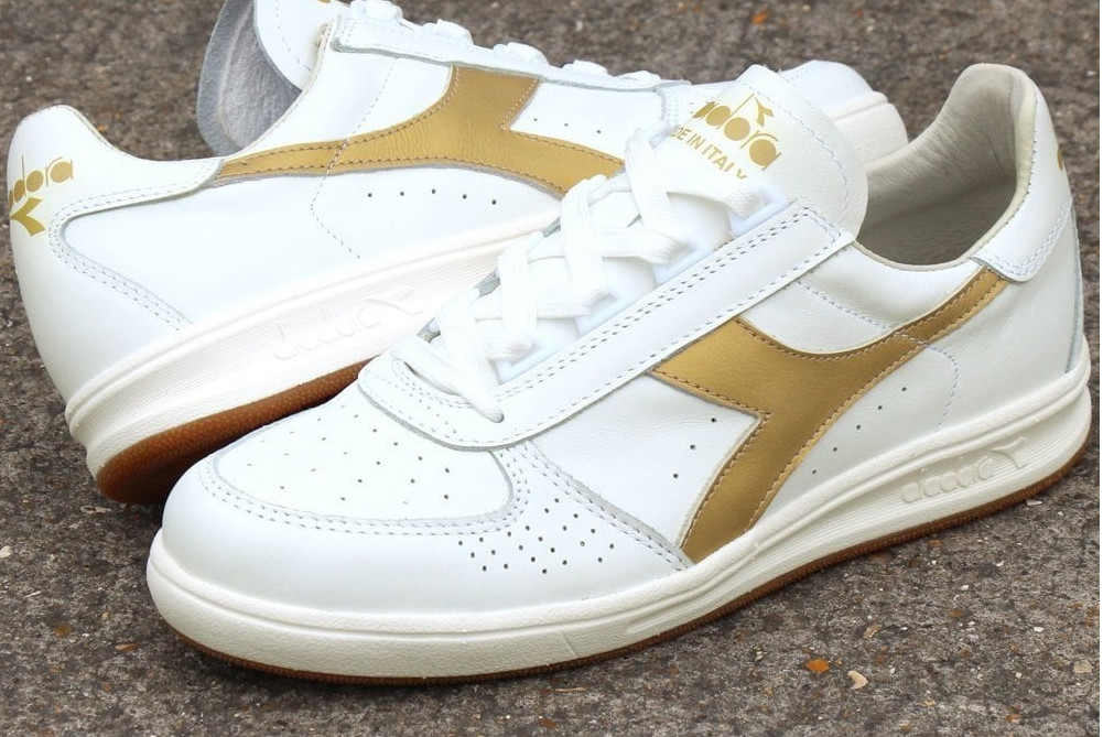 Diadora Borg Elite Made In Italy White Gold