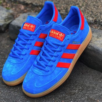 adidas Spezial trainer blue vivid red