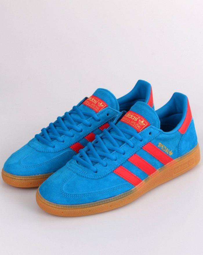 adidas Spezial trainer blue vivid red