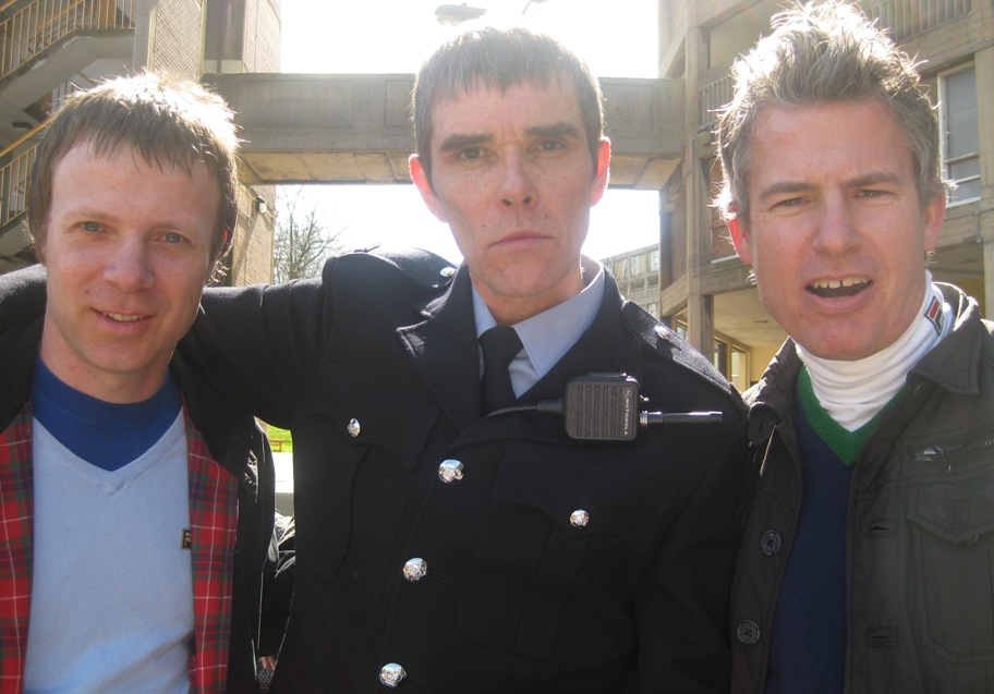 Neil and Kev with Ian Brown