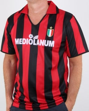 80s Casual Classics Ac Milan 1988 Retro Shirt Red/black
