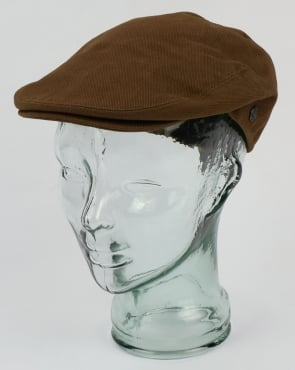 80s Casual Classics Brushed Cotton Flat Cap Olive
