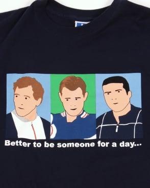 80s Casual Classics Business Trio T-shirt Navy Blue
