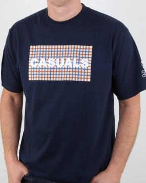 80s Casual Classics Casual Check T Shirt Navy