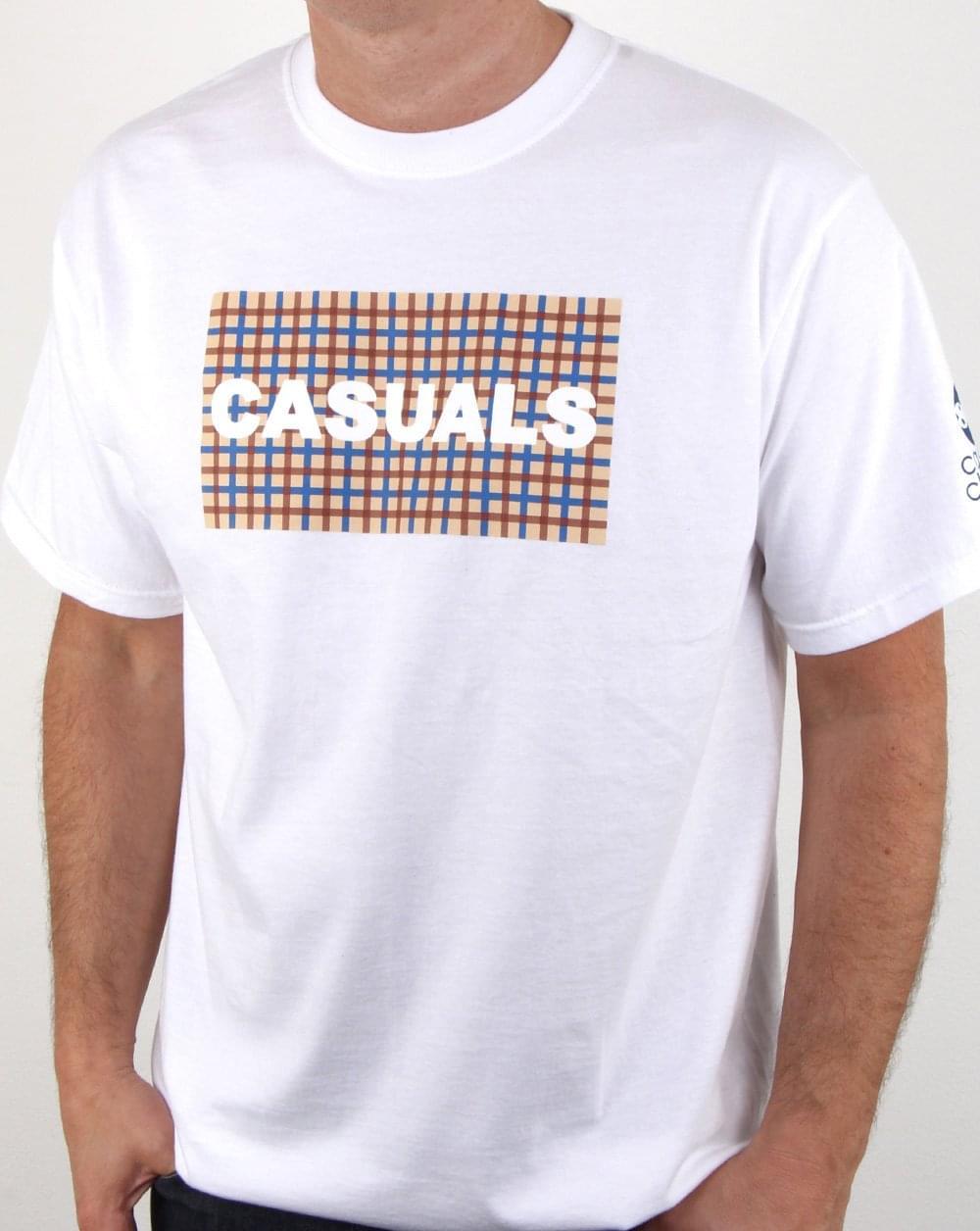 80s casual classics casual check t shirt white mens check for Casual white t shirt