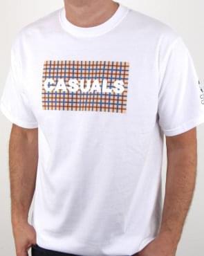 80s Casual Classics Casual Check T Shirt White