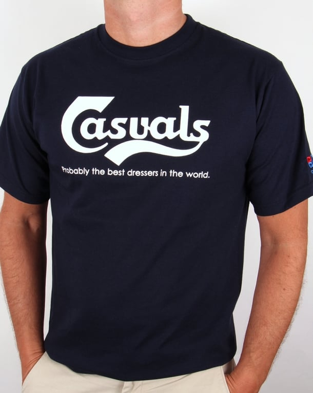 80s Casual Classics Casuals Best Dressers T-shirt Navy