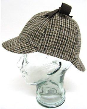80s Casual Classics Classic Deerstalker Houndstooth Hat Brown